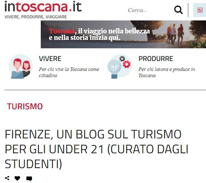 Rassegna Stampa Florence Teen - InToscana