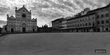 Piazza S. Croce durante il lockdown.